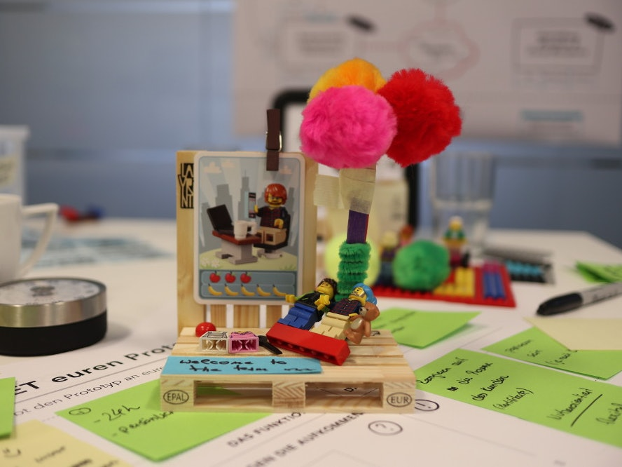 Detail view of model from open innovation workshop