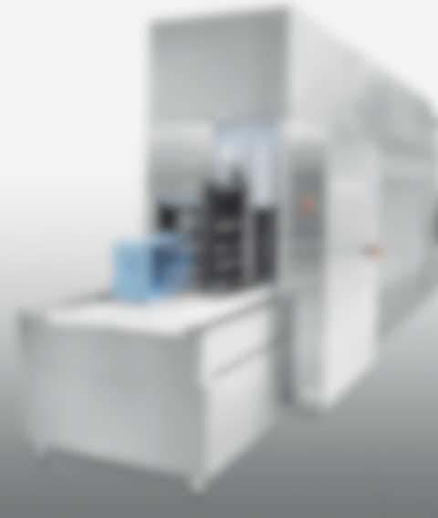 Kistenwaschanlage für KLT Reinigung